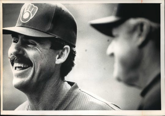 """Phil Garner walks the fine line of keeping his players both focused and relaxed. Says player Scott Fletcher, """"He likes having a loose clubhouse and making it fun."""" Baseball."""