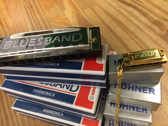 Sarah Ditzenberger said people like coming into Fischberger's Variety Store to buy old-school instruments like harmonicas.