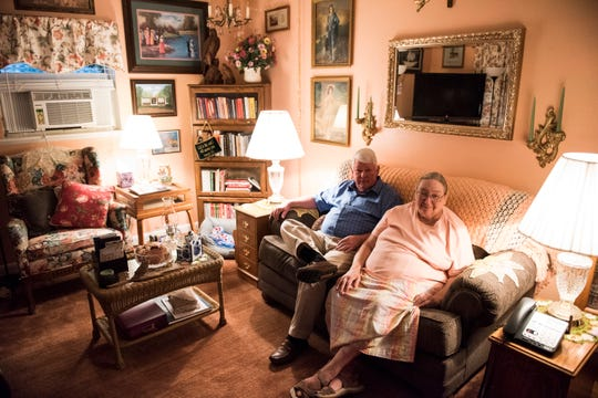 David and Diane Still pose for a portrait at their home in Prattville, Ala., on Thursday, Nov. 1, 2018. The Autauga Interfaith Care Center helped the Stills when they fell on hard times due to medical bills.