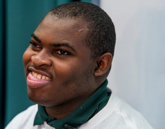 Joseph Bradley talks about horse riding on Thursday November 8, 2018 at Jeff Davis High School in Montgomery, Ala. Joseph has been chosen to be on the Special Olympics equestrian team competing at the Special Olympics World Games in Abu Dhabi next year.