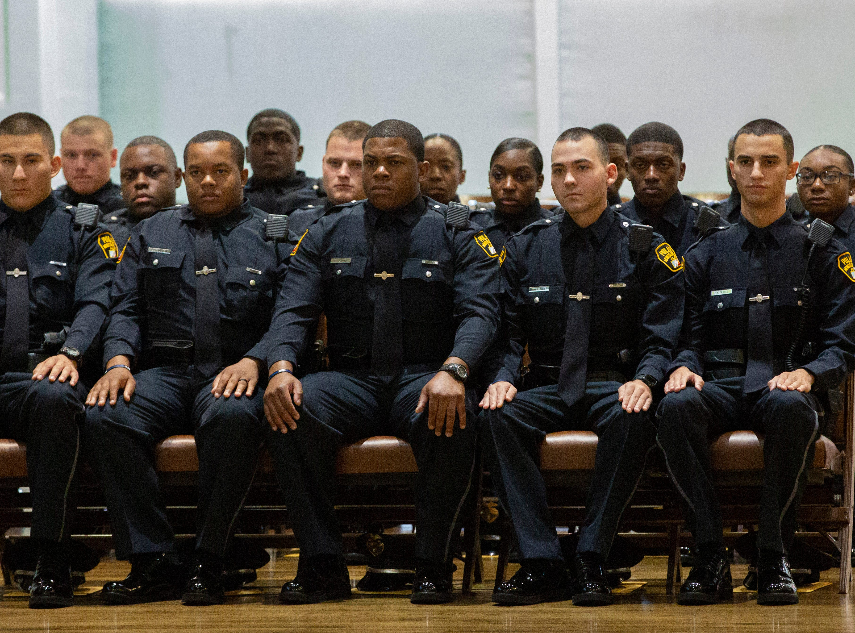 Montgomery police welcomed 16 new officers to their ranks during a graduation ceremony at city hall.