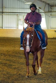 Joseph Bradley rides a horse. Joseph has been chosen to be on the Special Olympics equestrian team competing at the Special Olympics World Games in Abu Dhabi next year.