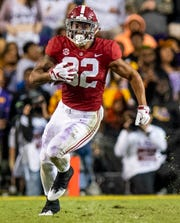 Alabama tight end Irv Smith Jr. (82) in second half action against LSU at Tiger Stadium in Baton Rouge, La., on Saturday November 3, 2018.