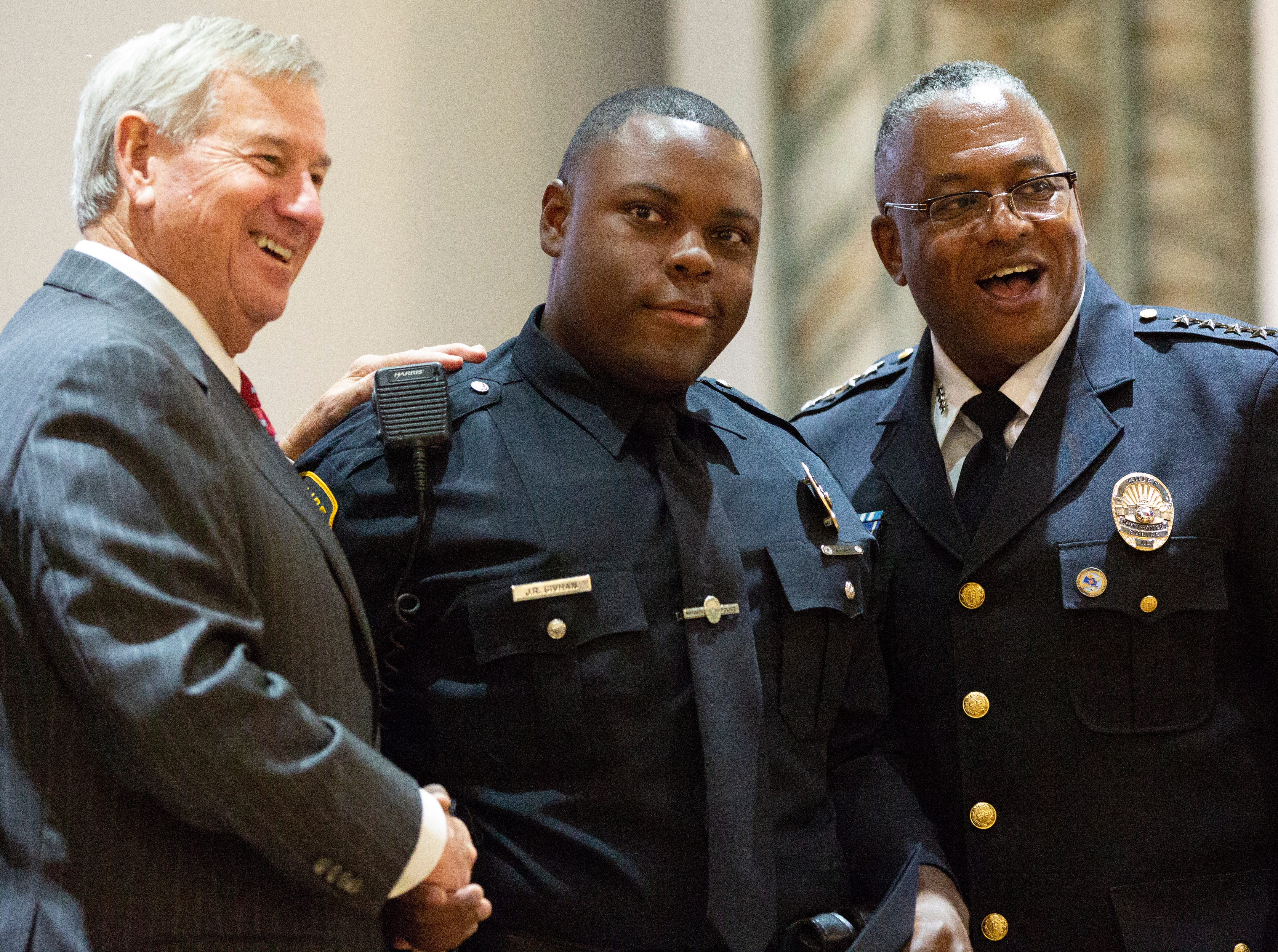 Montgomery police officer Jeremy Givhan poses for a photo after graduating from the academy.