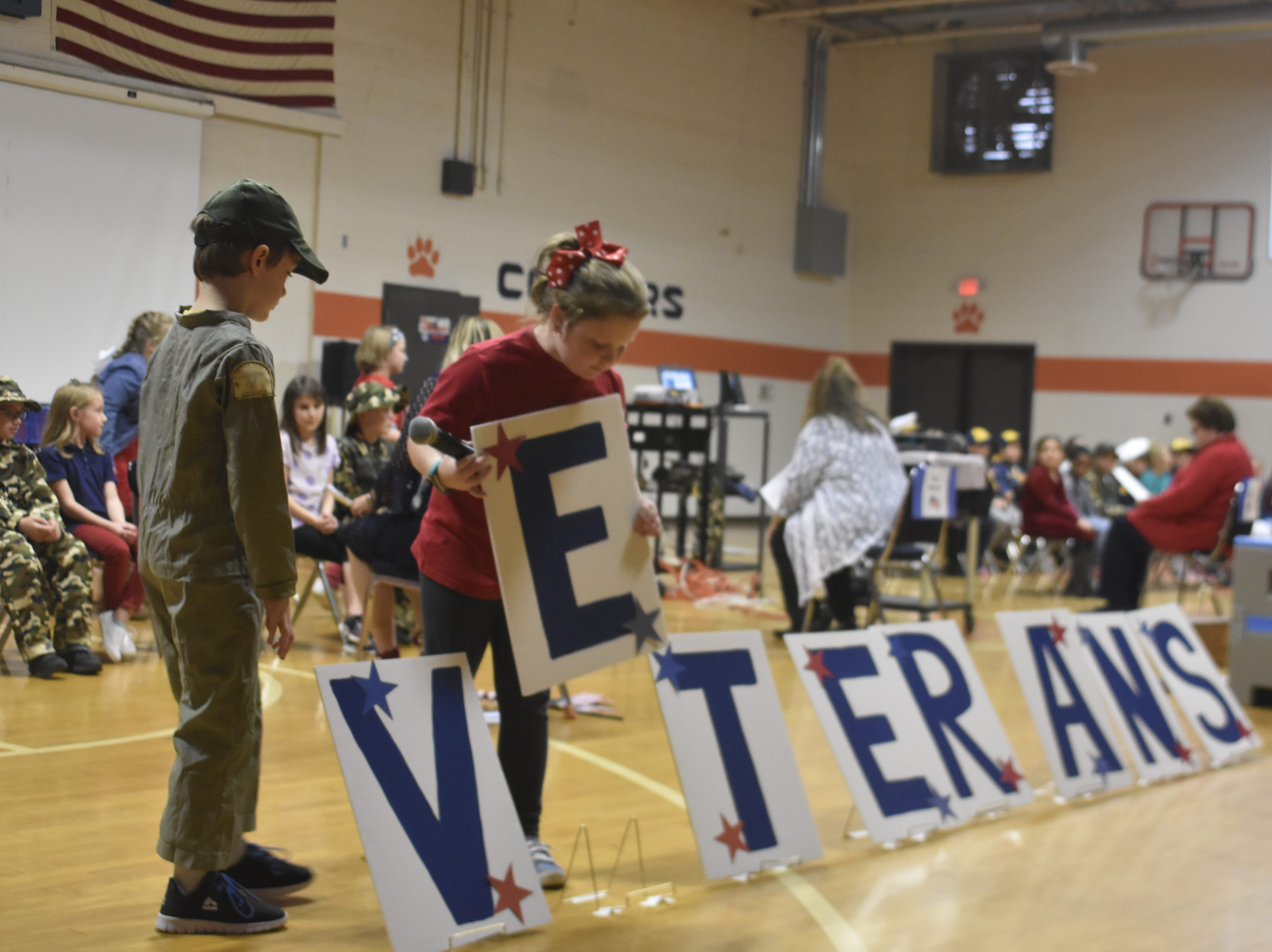 West Cheatham Elementary School's second graders performed their annual 'Thank You Veterans' program Thursday.