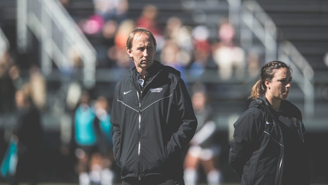 Vanderbilt women's soccer coach Darren Ambrose, left, director of operations Laura Lamberth and others have guided the Commodores to back-to-back NCAA tournament appearances.