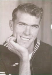 """Aaron Dorn's """"Papa,"""" Larry Jackson, joined the Navy at age 18 in 1951. Jackson grew up poor and joined the Navy, in part, to guarantee himself three meals a day. A couple years earlier, Jackson quit high school to get a job to help feed his siblings."""