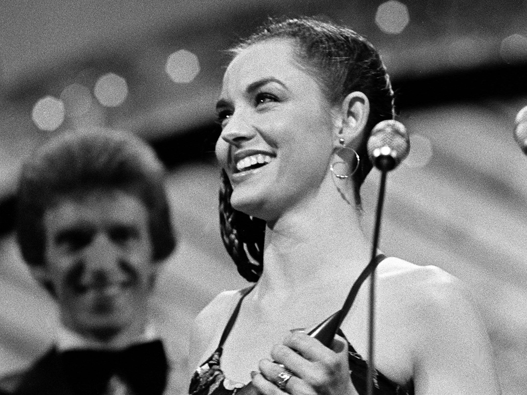 Crystal Gayle is all smiles after winning the Female Vocalist of the Year award during the 12th annual CMA Awards show Oct. 9, 1978.
