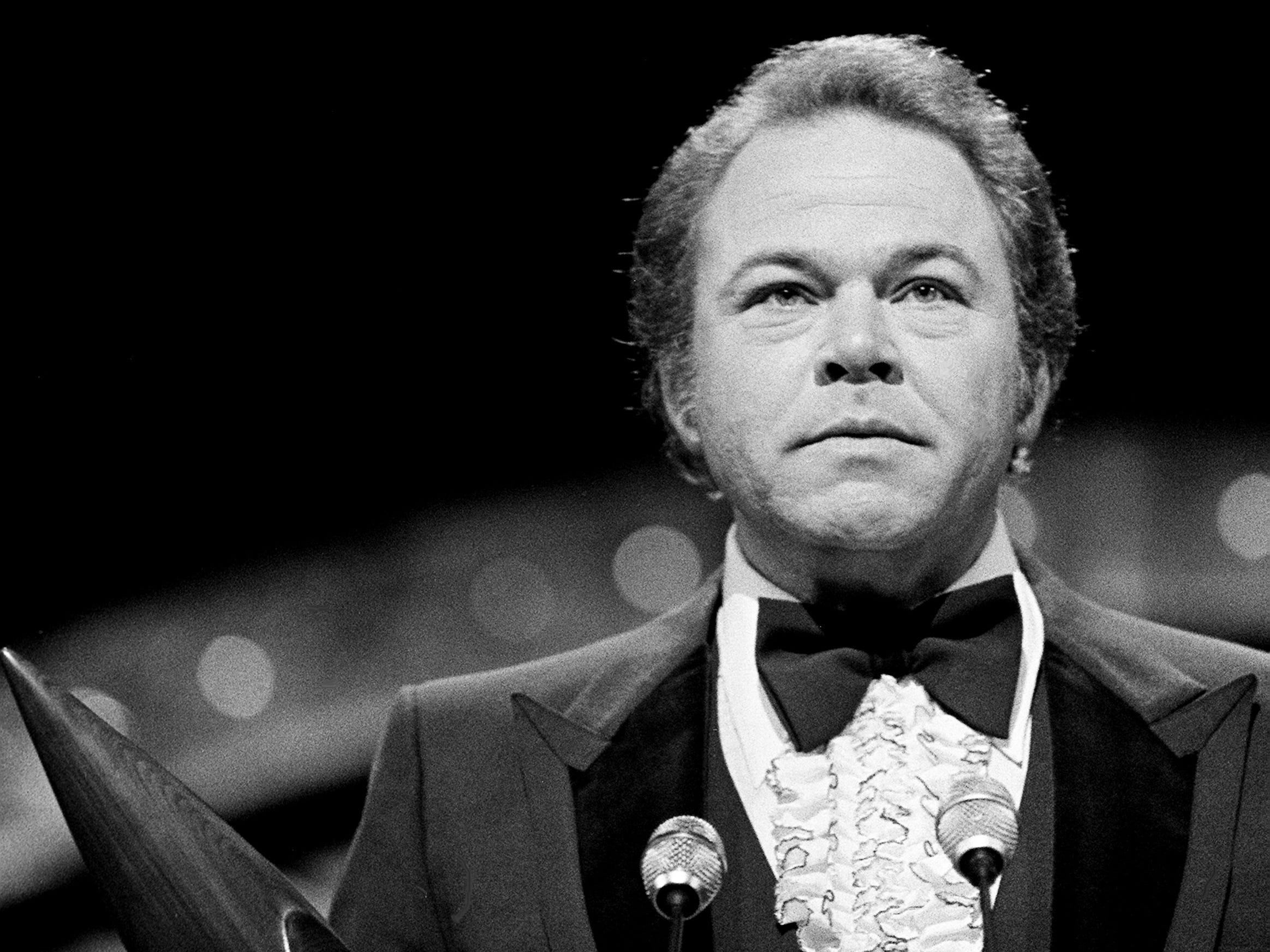 "Popular ""Hee Haw"" star Roy Clark repeats as the Instrumentalist of the Year winner during the 12th annual CMA Awards show at the Grand Ole Opry House on Oct. 9, 1978."