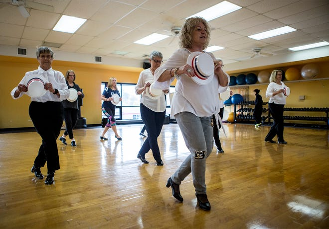 Mary Ann Green leads a tap class geared towards seniors at the Licking County YMCA. The class meets twice a week, and even though its only been running for a few months the class size continues to grow.