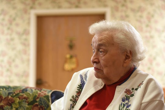 Idabell Koontz, 94, served as a with the United States Cadet Nurse Corps at Camp Atterbury in Indiana during World War II.