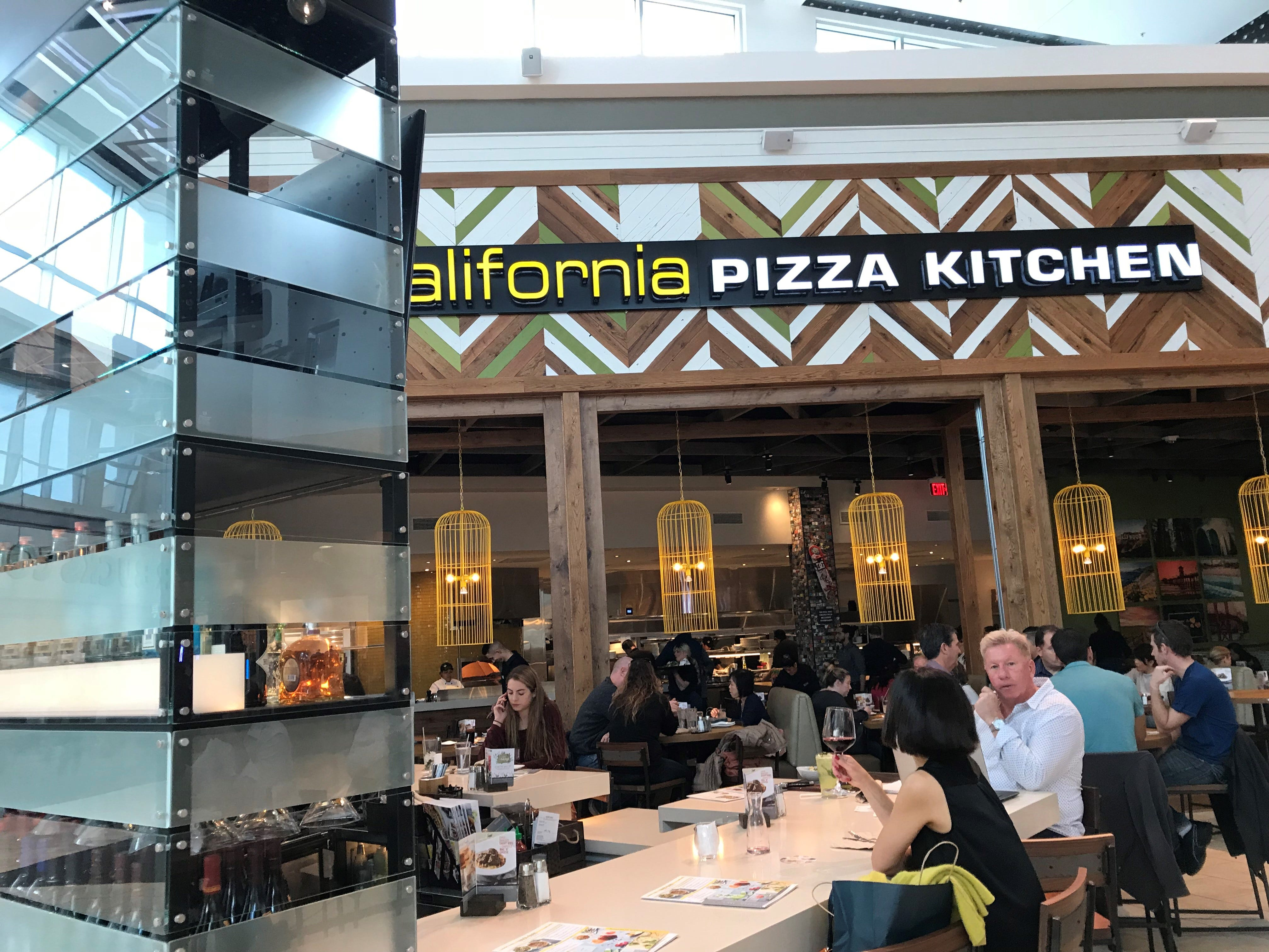 The new California Pizza Kitchen includes expanded seating in the mall's common area.