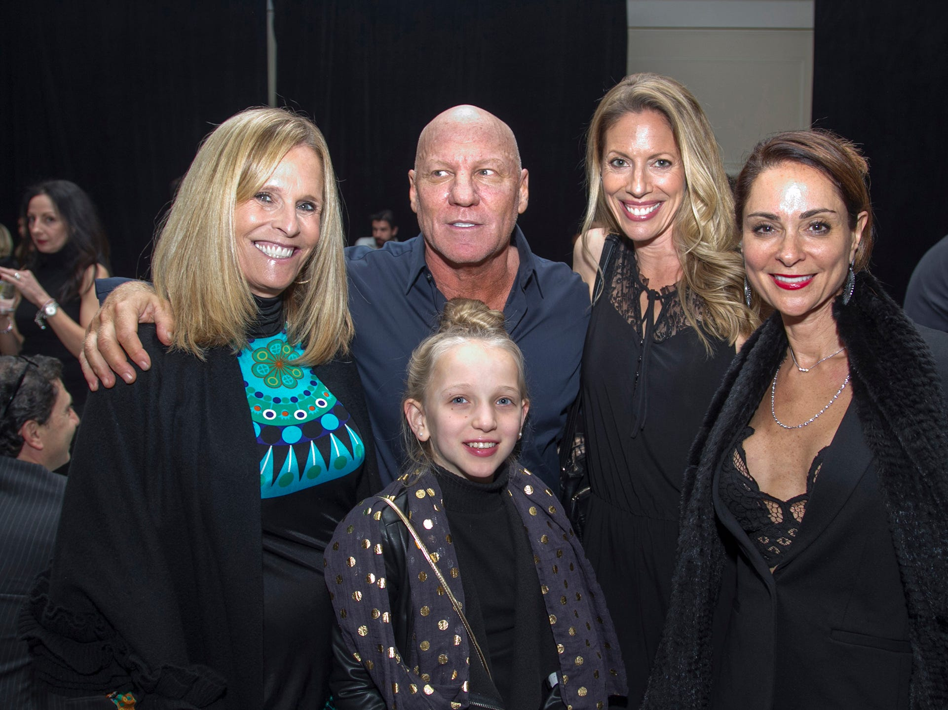 Carroll, Steve Madden, Gina, Jenn, Goldie. Kula for Karma's 11th Anniversary gala at Pearl River Hilton. 11/05/2018