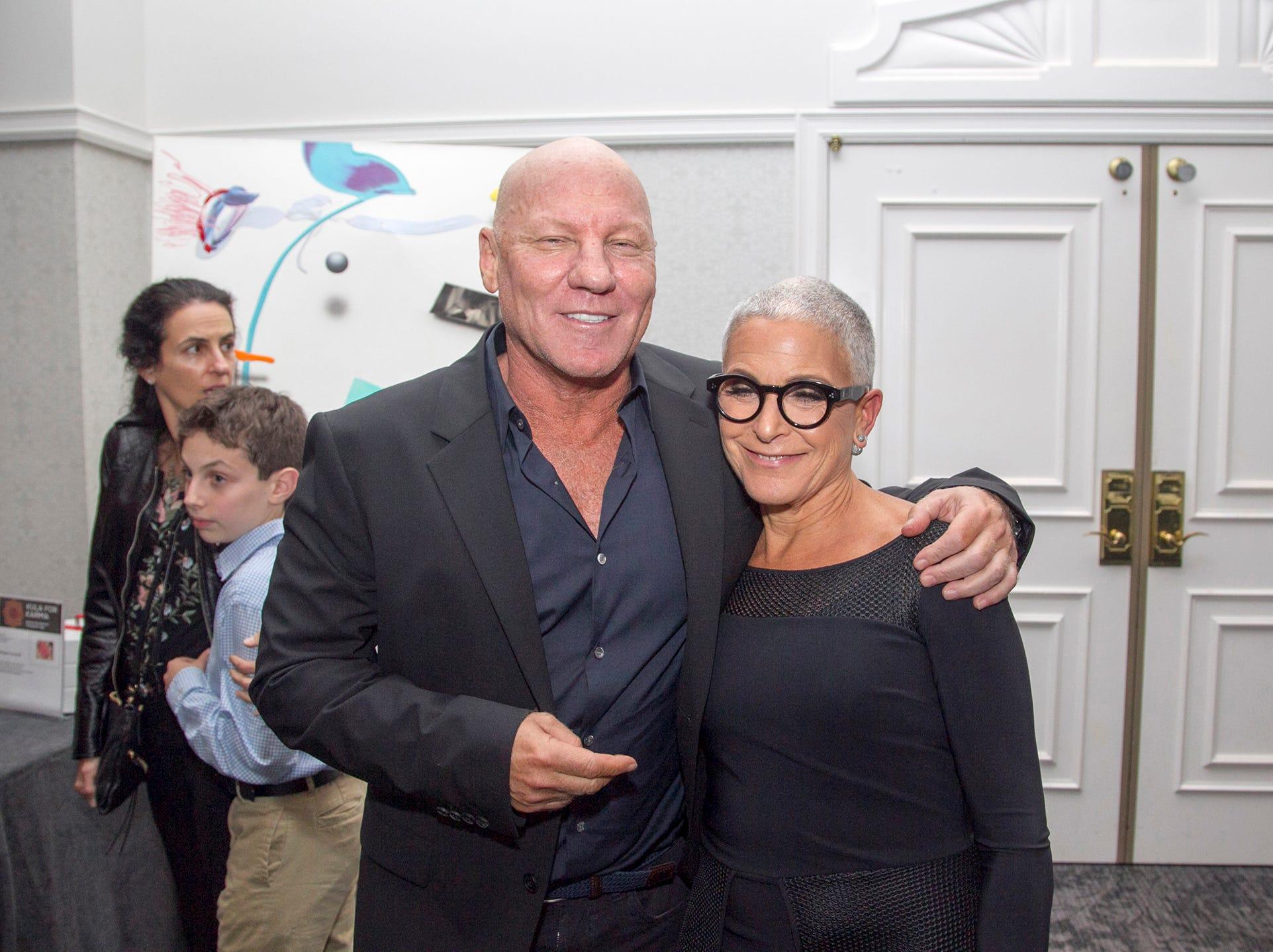 Steve Madden, Penni Feiner.  Kula for Karma's 11th Anniversary gala at Pearl River Hilton. 11/05/2018