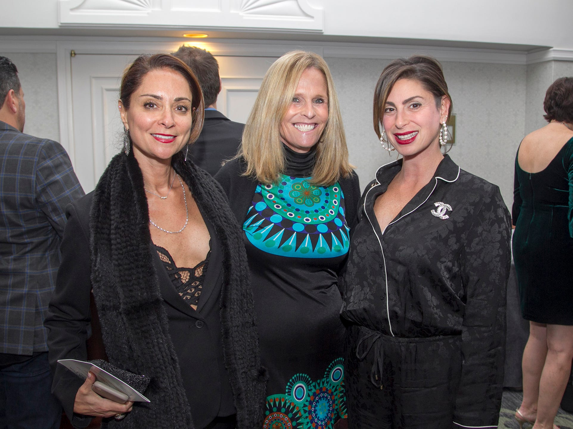 Jenn Graf, Lauren Sheinman, Stefani Greenspan. Kula for Karma's 11th Anniversary gala at Pearl River Hilton. 11/05/2018