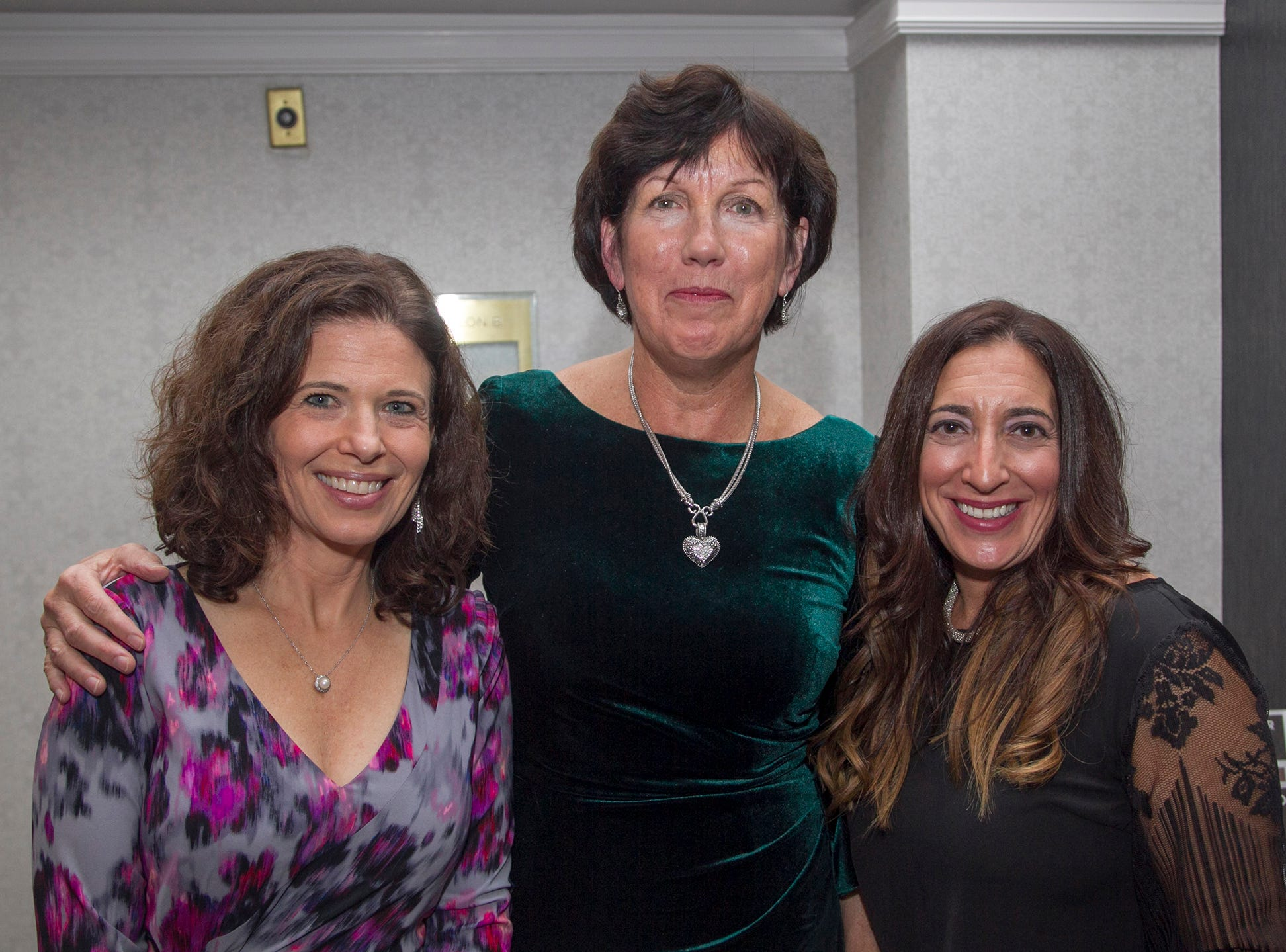 Laura Rosen, Karen Overgaard, Faith Kaufman. Kula for Karma's 11th Anniversary gala at Pearl River Hilton. 11/05/2018