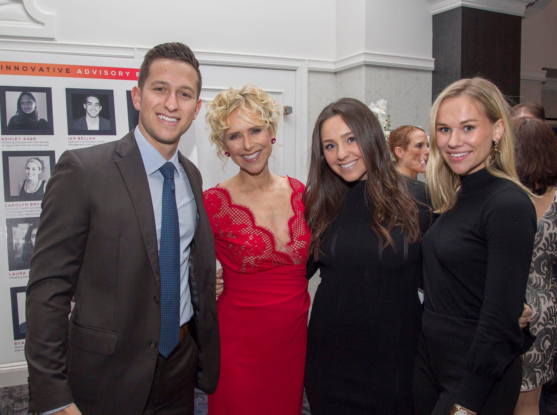 Jacon Topfer, Geri Topfer, Sydney Topfer, Jessica Stesanowicz. Kula for Karma's 11th Anniversary gala at Pearl River Hilton. 11/05/2018