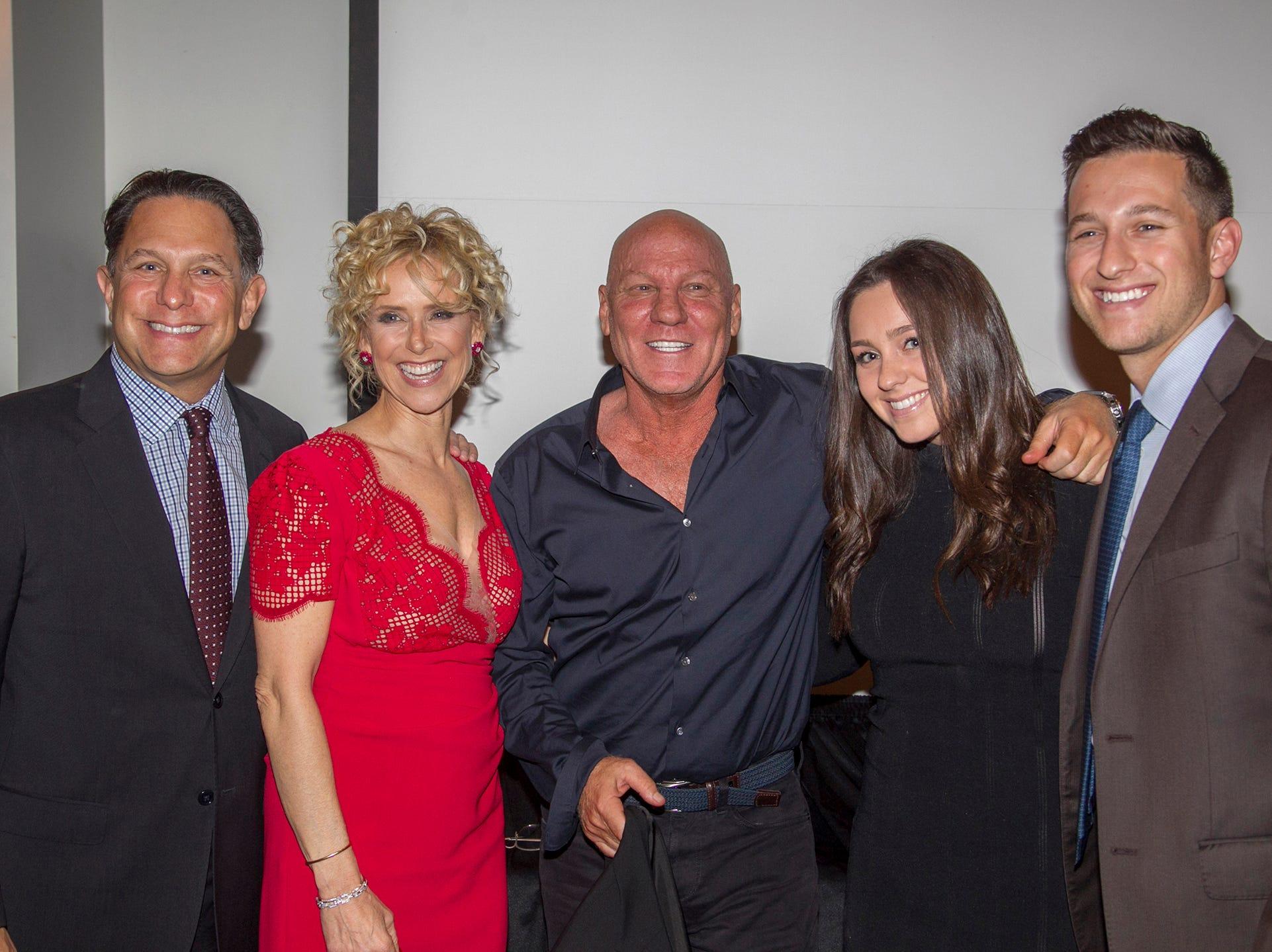 Dr. Steven Topfer, Geri Topfer, Steve Madden, Sydney Topfer, Jacob Topfer. Kula for Karma's 11th Anniversary gala at Pearl River Hilton. 11/05/2018