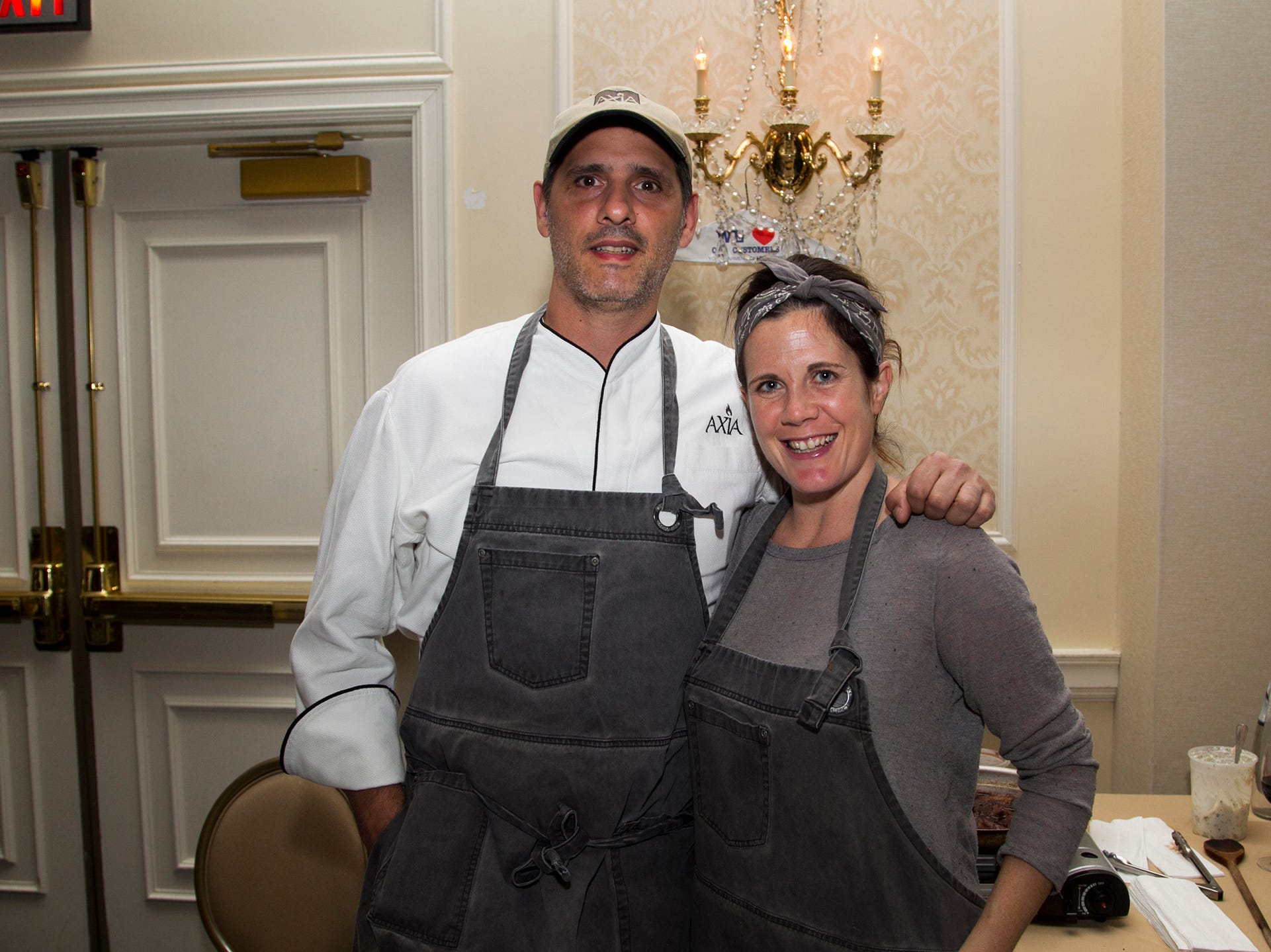 Axia Tavern, Chef Alex Grorant, Tara Ciannella. Kula for Karma's 11th Anniversary gala at Pearl River Hilton. 11/05/2018