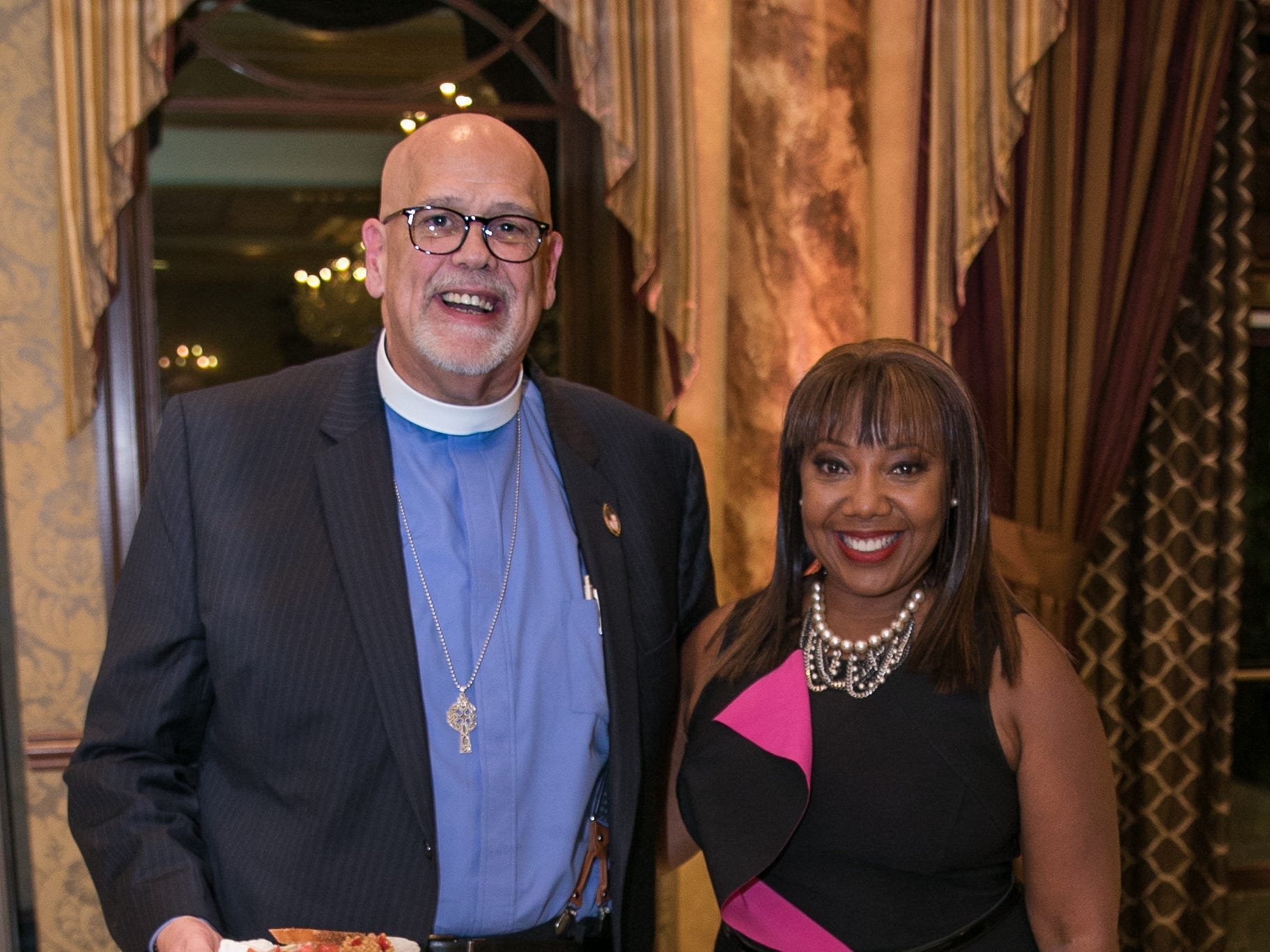Erik Soldwedel, News personality and MC- Vanessa Tyler. Youth Consultation Service – YCS held their 100th Anniversary Celebration at Seasons in Washington Township.11/5/2018