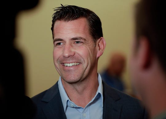 New York Mets general manager Brodie Van Wagenen speaks to reporters during the baseball GM meetings Wednesday, Nov. 7, 2018, in Carlsbad, Calif.