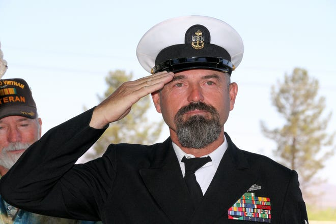 USN retired E-8 Senior Chief Chadwick Troyer will be the guest speaker at Sunday's Veterans Day ceremony.