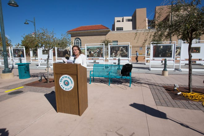 "New Mexico Governor Susana Martinez, announced Thursday November 8, 2018, that Doña Ana County had the third largest direct sales from tourism in the state in 2017, reaching $382.4 million. She spoke in front of ""The Prado"" art exhibit on the Plaza de Las Cruces."