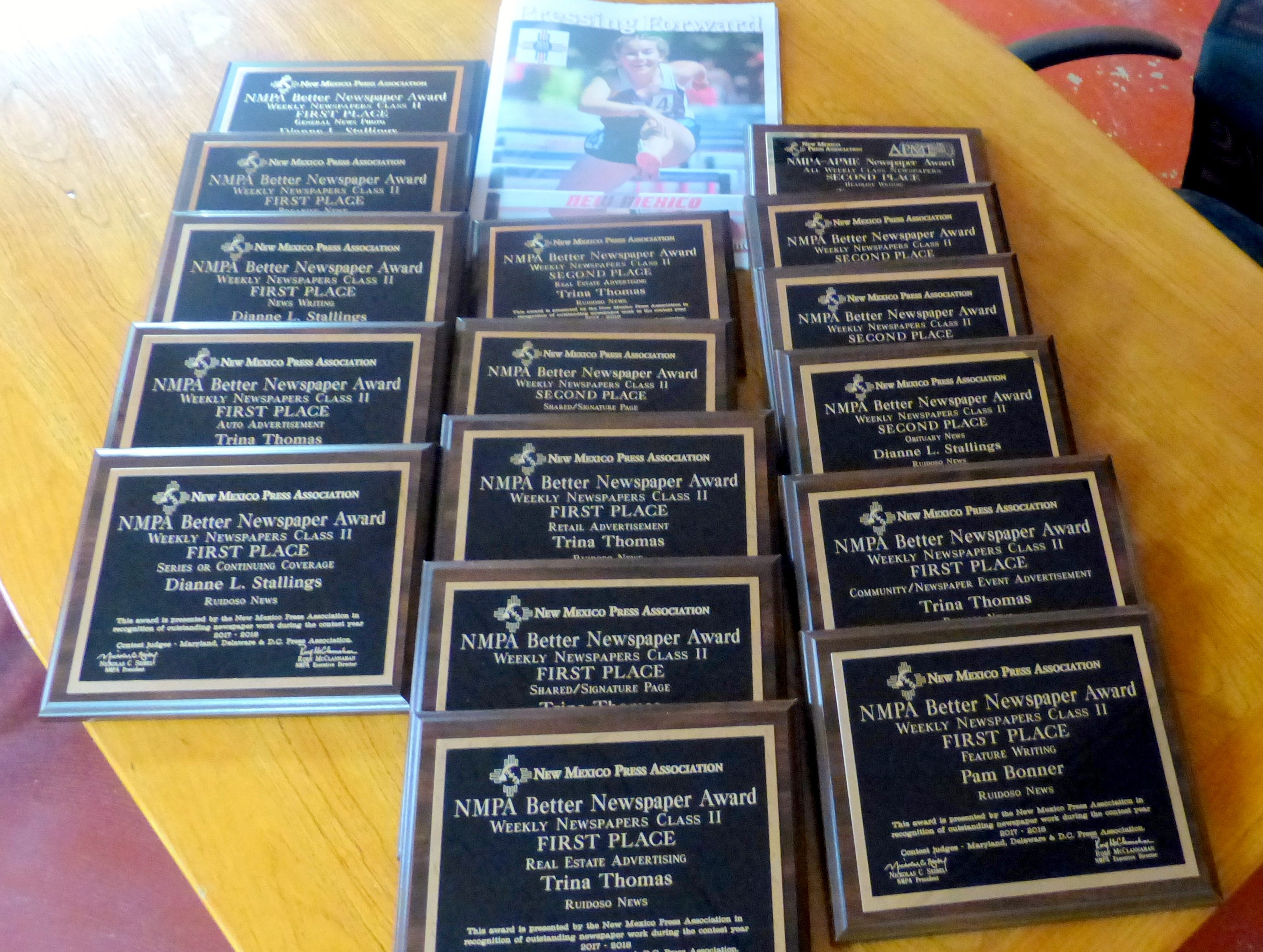 Ruidoso News staff wins 15 awards from the New Mexico Press Association