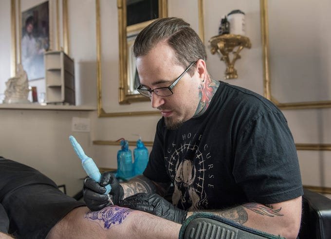 Karlos Kowaleski started out as a musician and fine artist. Now he uses those skills in his new business, Box5 Tattoo and Fine Art.
