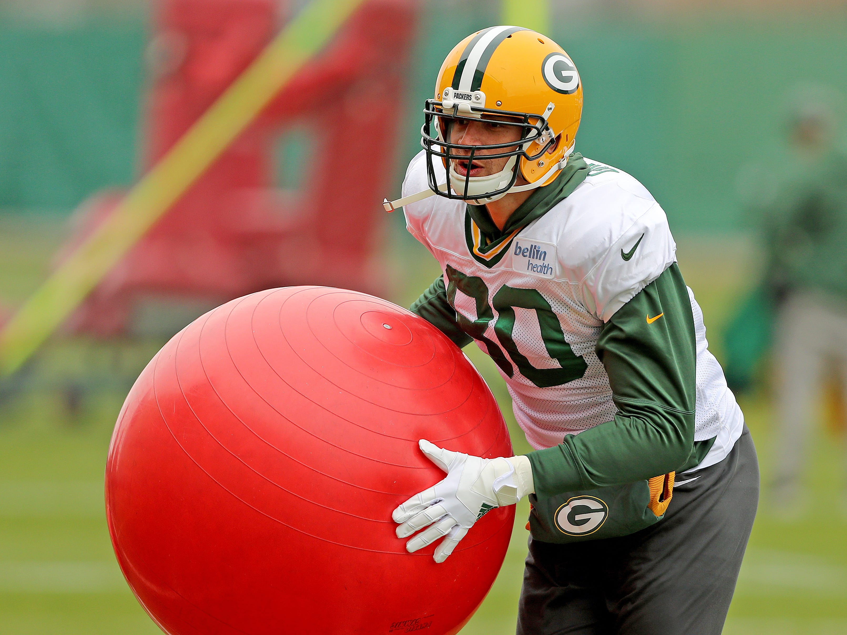 Green Bay Packers tight end Jimmy Graham (80) during practice Thursday, November 8, 2018 at the Don Hutson Center in Ashwaubenon, Wis.