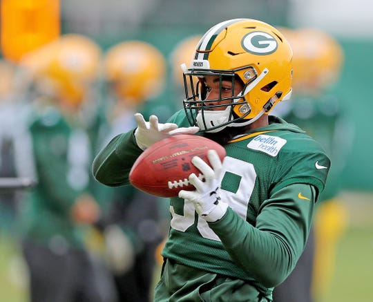 Green Bay Packers safety Ibraheim Campbell (39) during practice Thursday, November 8, 2018 at the Don Hutson Center in Ashwaubenon, Wis.