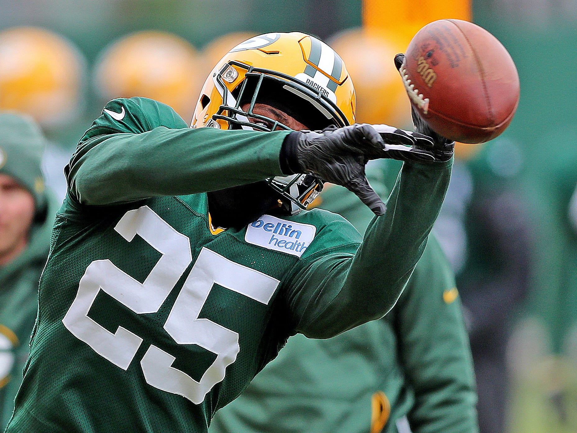 Green Bay Packers cornerback Will Redmond (25) during practice Thursday, November 8, 2018 at the Don Hutson Center in Ashwaubenon, Wis.