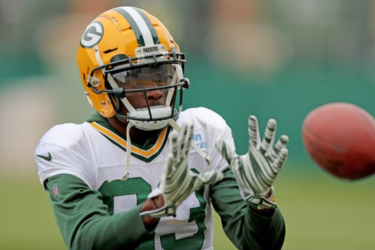 Green Bay Packers wide receiver Marquez Valdes-Scantling (83) during practice Thursday, November 8, 2018 at the Don Hutson Center in Ashwaubenon, Wis.