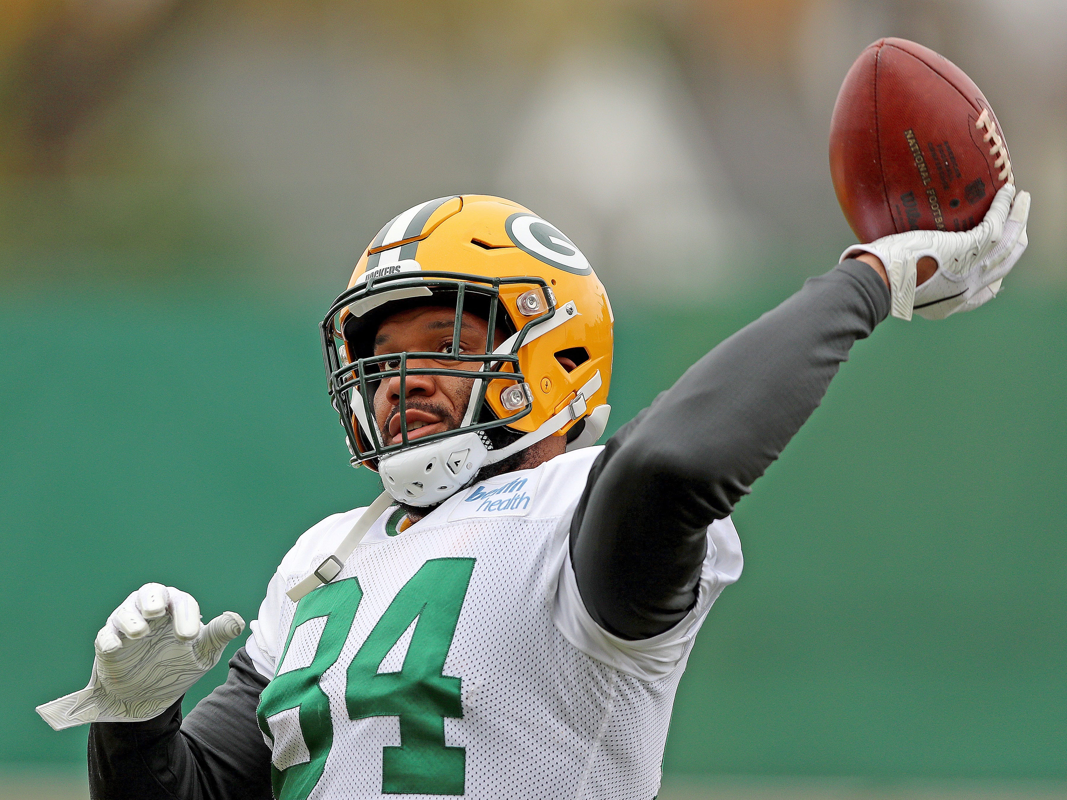 Green Bay Packers tight end Lance Kendricks (84) during practice Thursday, November 8, 2018 at the Don Hutson Center in Ashwaubenon, Wis.