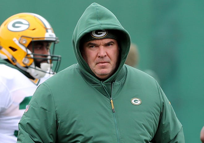 Green Bay Packers head coach Mike McCarthy during practice Thursday, November 8, 2018 at the Don Hutson Center in Ashwaubenon, Wis.