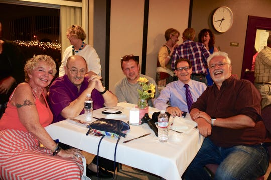 (L) Valerie Schecter, Greg Pettis, Doug Schmidt, Board Tresurer Shelley Kaplan, and Alan Carvalho.