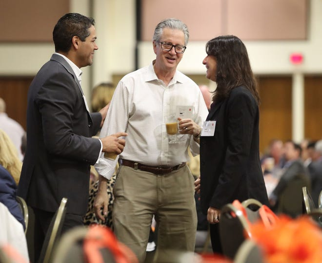 Attendees network during the Greater Palm Springs Economic Summit, November 8, 2018