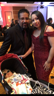 Baby Lelani with parents Miguel and Nancy Munoz
