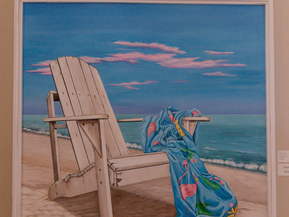 """""""Ghost Crab I"""" by Lori Cooper received a Juror's Award and is one of over 100 pieces on display as part of the """"Cinco Banderas Collection"""" at the Artel Gallery on Tuesday, October 30, 2018. The exhibit, which runs through November 30, is celebrating its 30th anniversary this year."""