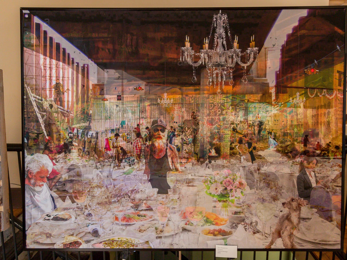 """Banquet"" by Don Manderson is one of over 100 pieces on display as part of the ""Cinco Banderas Collection"" at the Artel Gallery on Tuesday, October 30, 2018. The exhibit, which runs through November 30, is celebrating its 30th anniversary this year."
