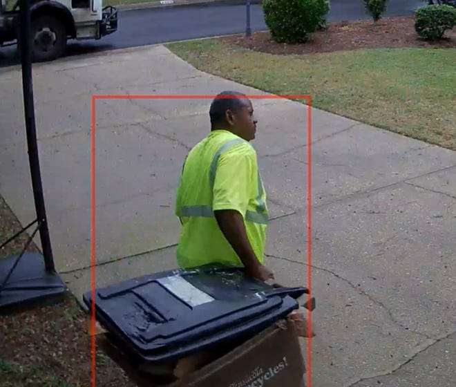 City of Pensacola employee Laderal Dyess was captured on camera picking up a resident's recycling bin even though it wasn't left on the curb. The coincidental act of kindness lifted the spirits of Doug Cashio, the resident who had just endured a family emergency.
