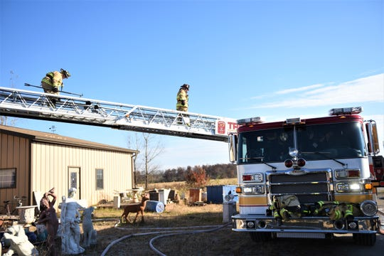 Structure fire at Concrete Jungle in the 7700 block of Carlisle Pike in York Springs Township on Nov. 8.