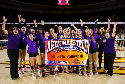 Millennium dominates in three sets to win first girls volleyball state championship