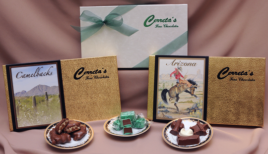 Cerreta's Candy Co.  offers a large selection of locally-made chocolates, mints, brittle, toffee and other sweet treats.