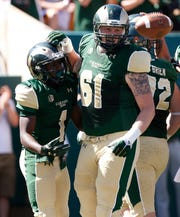 Colorado State offensive lineman Zack Golditch.