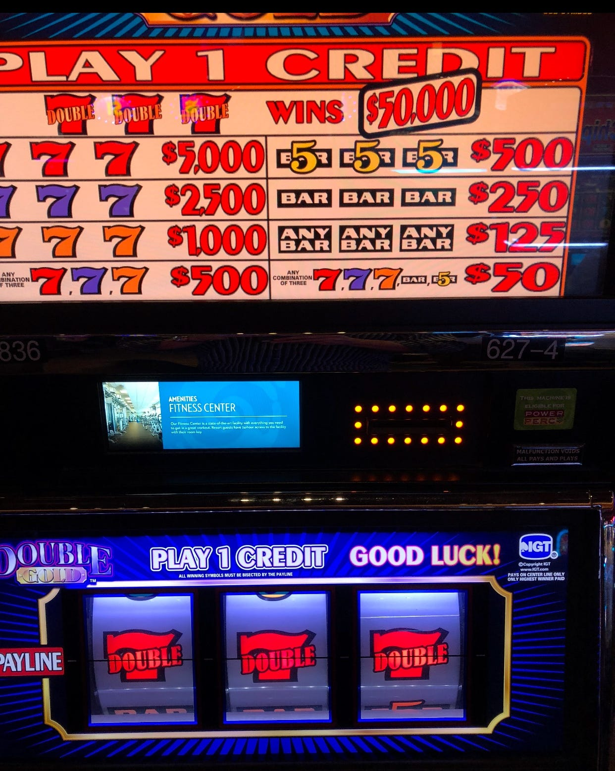 A photo Scottsdale resident Ryan Sherry took of what he thought was a $50,000 jackpot.