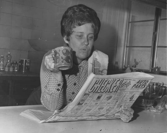 A 1973 photo of columnist Erma Bombeck.