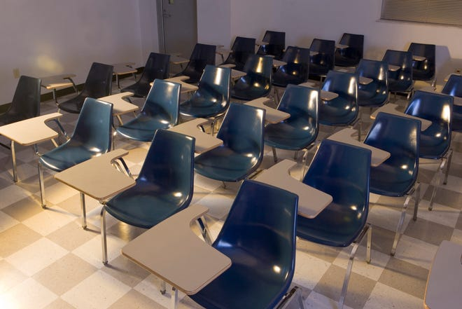 Chairs in empty classroom