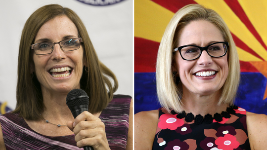 U.S. Senate Candidates Martha McSally and Kyrsten Sinema