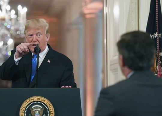Este es el momento en que Trump arremete contra Jim Acosta, periodista de CNN, durante una rueda de prensa en la Casa Blanca.